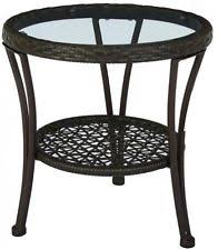 Patio Side Table Hampton Bay Altamira Glass Top Patio Side Table Tables Ebay