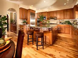 Kitchen With Light Oak Cabinets Dark Wood Floors With Honey Oak Cabinets Wood Floors