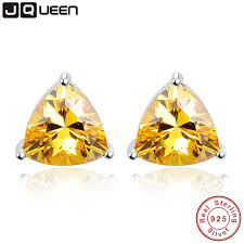 citrine earrings 6 2ct genuine 925 sterling silver wedding engagement jewelry