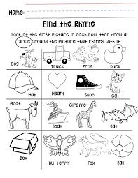 englishlinx com rhyming worksheets kindergarten fun with work koogra