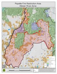 Blm Lightning Map Idaho Fire Information Payette Fire Restrictions Area