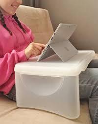 kids folding lap desk amazon com kids folding 17 x 11 lap desk with storage white