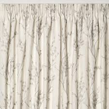 Grey Curtains Willow Off White Dove Grey Floral Pencil Pleat Ready Made