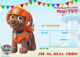 paw patrol halloween background free printable paw patrol invitation template u2013 all characters