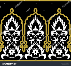 Moorish Design by Moorish Fez Seamless Border Ocher On Stock Vector 164758040