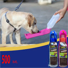 2018 Dog Water Bottle Feeder With Bowl 500ml Plastic Portable Water