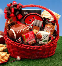 Snack Gift Baskets Superbowl Football Gift Basket Includes Football And Gourmet Snacks