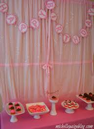 Light Pink Curtains by Michelle Paige Blogs Pink Cupcake Birthday Party