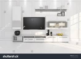 living room tv furniture shelf 3d stock illustration 513335752
