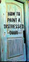 step by step instructions on how to paint a faux distressed door
