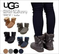 ugg mini bailey bow grey sale shoe get rakuten global market s sale ugg australia mini