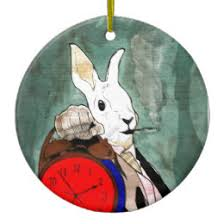 white rabbit ornaments keepsake ornaments zazzle