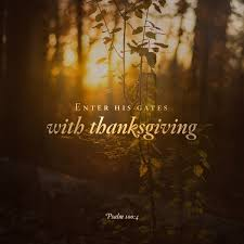 daily bible verse on enter his gates with thanksgiving and
