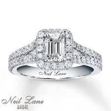 neil emerald cut engagement rings neil bridal 1 3 8 ct tw diamonds 14k white gold ring neil