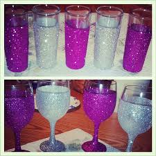 wine glasses and shot glasses from walmart paint modge podge on