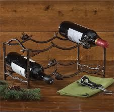 antler wine rack primci country decor