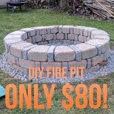 Firepit Bricks Easy Diy Pit For Only 80 From Menards Diy Pinterest
