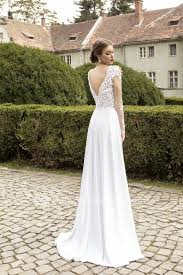 long sleeve v neck wedding dresses 2017 lace side slit zipper