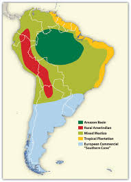 Labeled South America Map by South America