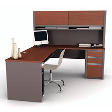 u shaped office desk with hutch bush series c corner desk and hutch with lateral file hayneedle