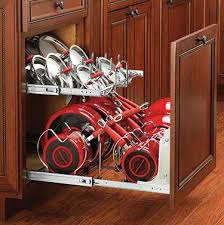 Cabinet Organizers For Pots And Pans Sensitive Living Rev A Shelf Cookware Organizer