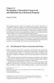theoretical framework research paper chapter 1 the problem and its background chapter 1 of a thesis