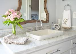 A Transitional Master Bathroom Tour ZDesign At Home - White cabinets master bathroom