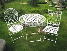 Wrought Iron Patio Bistro Set Very Nice Vintage Classic Outdoor Decorative Antirust Metal Patio