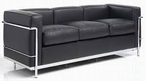 LC Three Seater Sofa Le Corbusier  For The Home - Corbusier sofas