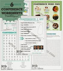 general conference sundaes activity free printables