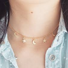 star choker necklace images Moon star choker necklace imsmistyle jpg
