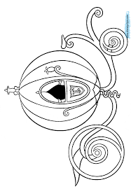 coloring page activity cinderella in carriage coloring pages