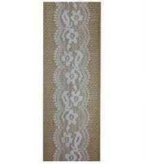 decorative ribbon decorative ribbon 2 5 x12 lace on burlap white joann