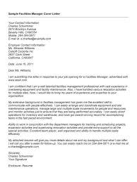 facilities manager cover letter free facilities manager cover