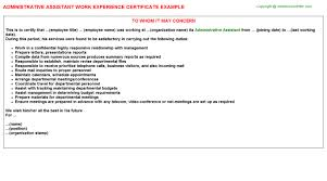 Resume For Purchase Assistant Administrative Assistant Work Experience Certificate