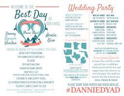 In Memory Of Wedding Program Wedding Program U2013 One Month Left U2013 Danny U0026 Annie