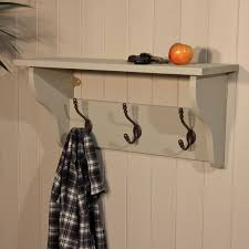 Entryway Cubbie Shelf With Coat Hooks Wall Mounted Cherry Wood Coat Rack Tradingbasis