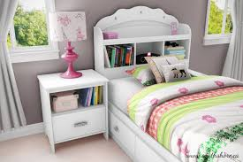 South Shore Tiara Twin Mates Bed With Drawers And Bookcase - Elegant non toxic bedroom furniture residence