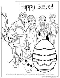 frozen characters happy easter colouring coloring