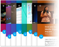 android developers blog material design in the 2014 google i o app
