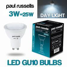 led gu10 spot reflector light bulbs 3w 4w 5w warm cool daylight