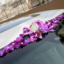 car ribbon 2017 flower wedding car decoration wedding car ribbon decoration
