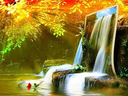 waterfall beautiful nature collage sunshine waterfalls free