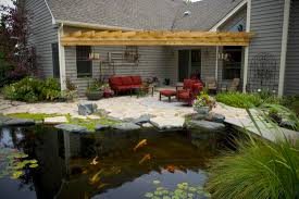 Patio Pond by Water Features Ponds Installation Service U0026 Repair Rochester Ny
