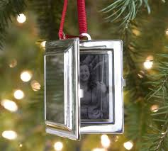 locket ornament monogrammable rectangular locket ornament pottery barn