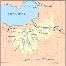 map of the erie canal oswego canal is a part of the erie canal