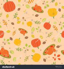 thanksgiving pattern background turkey pumpkin celebratory stock