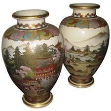 Japanese Kutani Vases Pair Of Antique Japanese Kutani Vases For Sale At 1stdibs