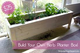 Balcony Planter Box by Diy Herb Planter Box 25 Planters Diy And Crafts And Herb