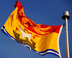 Canadian Provincial Flags Provincial Flag Of New Brunswick Canada With Golden Lion And Galleon